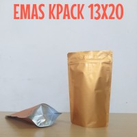 kemasan standing pouch emas 250z
