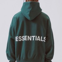 FEAR OF GOD ESSENTIALS PULLOVER HOODIE GREEN