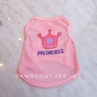 (B21) Baju Anjing kucing kaos anjing pet dog clothes pink XS S M L