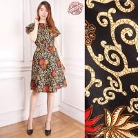 Dress Midi Batik Retata Short Dress Wanita