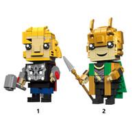 Marvel Avengers Thor Loki Big Lego Brick Headz kw Decool Cute Doll Loz