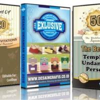 PROMO Paket Desain Undangan Super Lengkap 13 DVD