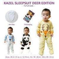 Kazel Sleepsuit Bayi Deer Edition (Unisex) Tutup Kaki 0-24m