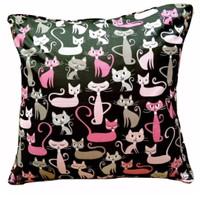 Sarung Bantal Sofa/Kursi 40x40 cm motif kucing