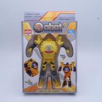 Jam Tangan Anak Robot Deformation Transformer Murah Kecil LED KADO