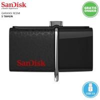 OTG + Flashdisk 2in1 Sandisk Ultra Dual 32GB Hitam