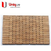 Jual souvenir wood placemat / Tatakan piring long block natural