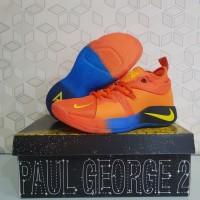 Sepatu Basket Nike Paul George PG 2 Okc Orange Blue Yellow Free Gelang