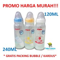 BOTOL SUSU PIGEON BPA FREE ASSORT 120ML 240ML - BIRU 120ML
