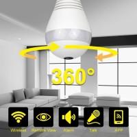 Kamera Panoramic Wifi Cctv Lamp - Kamera Spy Panoramic Lamp