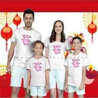 Kaos Couple Family TEMA IMLEK 2019 / YEAR OF THE PIG/ BEST SELLER.