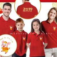 (NEW) Kaos / Baju Kerah Keluarga EDISI IMLEK / GONG XI FA CAI 2019.