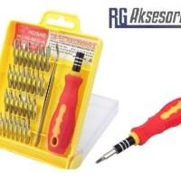 Obeng set toolkit KOTAK 32in1 lengkap dengan pinset / 32 in 1