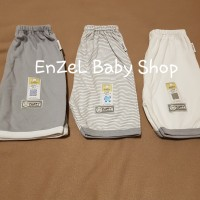 Celana Pendek bayi 3/4 size 1 tahun Seri Abu / Grey 3pcs / baby FLUFFY