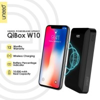 Powerbank 10000mAh Wireless Fast Charge W10 UNEED Original 10000 mah