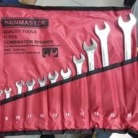 KUNCI RING PAS KENMASTER 11PCS COMBINATION WRENCH KENMASTER 11 PCS