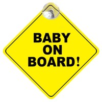 BABY ON BOARD CAR SIGNAGE SUCTION CUP / BABY ONBOARD NEMPEL KACA MOBIL