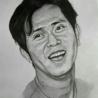 lukisan sketsa wajah ukuran a5