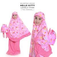 Mukena Anak Hello Kitty Lovely Pink XL (Tas Ransel)