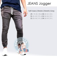 JEANS Jogger PREMIUM |Softjeans Pria | Celana Panjang Jeans | Grey02
