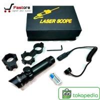Laser Scope Senapan Red Dot (Laser Senapan warna Merah)