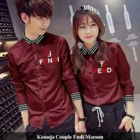 kemeja couple FNDI | jual kemeja keren | kemeja polos | baju couple