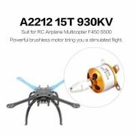 2212 15T 930kv Motor Brushless untuk RC Pesawat Multicopter F450 S500