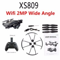 Rc Drone Quadcopter Visuo XS809HW -G FVP Wifi Camera 2mp Wide Angle