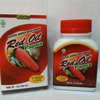 terlaris Kapsul RED OIL PAPUA Minyak Buah Papua isi 60 Kapsul original