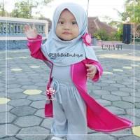 Gisela Set - Setelan Busana Muslim Anak Model Cardigan Size 1-2thn