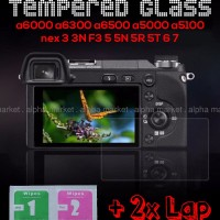 Tempered Glass LCD Sony Mirrorless Alpha Nex a6000 a6300 a6500 a5000