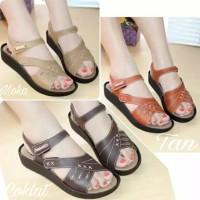 Sendal Sandal Wedges Wanita Ori Mulan 1781 | Sepatu Sandal Wanita