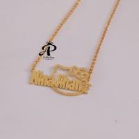 Kalung Nama anak lapis emas 24k motif Hello kity Murah anti karat