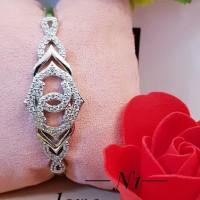 Xuping gelang tangan chanel lapis emas putih 0365