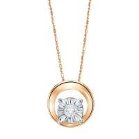 The Palace Sparkling Circle Liontin & Free Kalung - Rose Gold