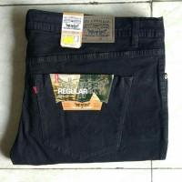 Celana Jeans Levi's Jumbo 39-44 Bahan Melar Strech Hitam Pekat