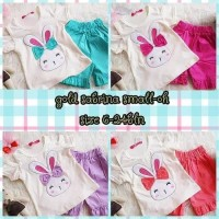 Setelan Bunny sabrina 6-24bulan baju baby girl