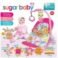 GROSIRAN Bouncer Bayi Sugar Baby Infant Seat with Toy Bar I Love Bear