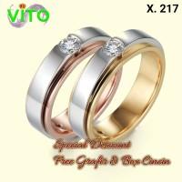 Cincin Perak Cincin Kawin Tunangan Sepasang Cincin Couple X-217