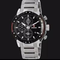 Jam tangan pria big size expedition e6385 silver black original best