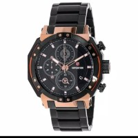 Jam tangan pria expedition e6385 black rosegold original