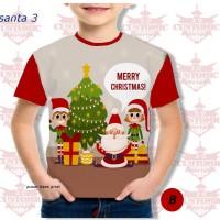 kaos anak berkualitas - kaos natal -kaosfull print natal santa merah2
