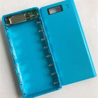 BIRU 8 Slot Power Bank Case Kotak DIY untuk 8 Baterai 18650