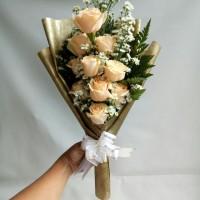 Buket bunga anniversary bunga mawar asli bouquet