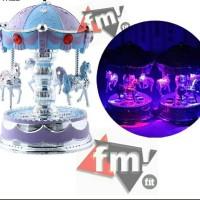 Kotak Musik Komedi Putar Carousel Merry-Go-Around ori sesuai gambar