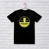 Locko -T-Shirt Kaos Distro Premium Pria Guitar World-Hitam 041
