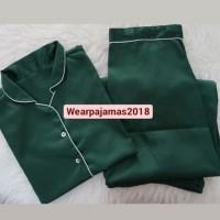 Pajamas Satin Longpants Hijau Tua