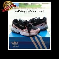 Sneakers Sepatu Adidas Falcon Black Pink