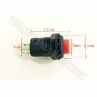 Tombol Push Reset Button On (Saklar Switch Push On) Bulat Merah Kecil