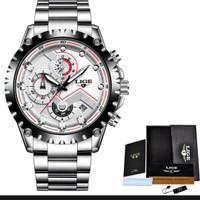 Lige watch 9821 jam tangan casual sport bisnis resmi original